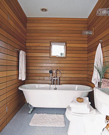 Обустройство и отделка санузла в деревянном доме