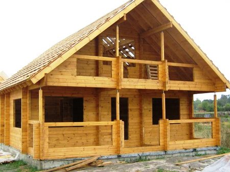 Строительство домов из массива
