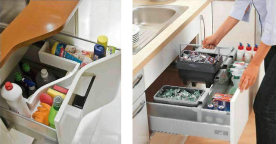 Как организовать пространство под мойкой