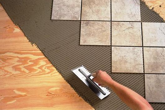 Подготовка и укладка напольной керамической плитки