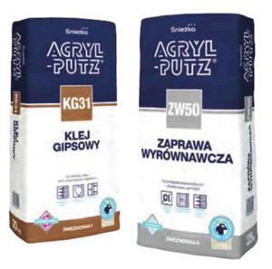 смесь для выравнивания ZW50 и гипсовый клей KG31