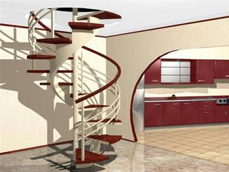 Металлическая лестница лестница